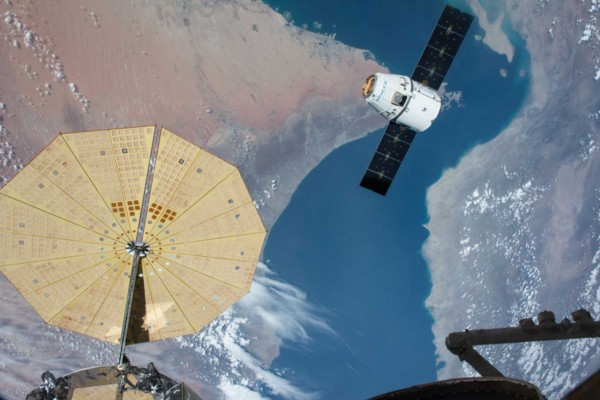 International Space Station and SpaceX spacecraft
