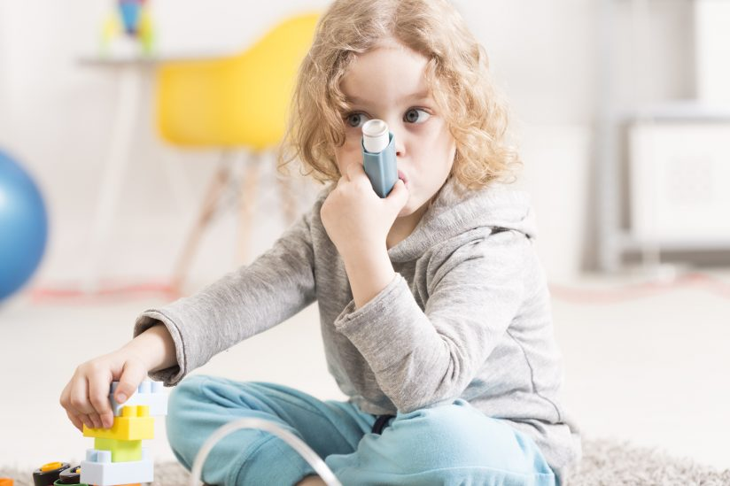 child using inhaler