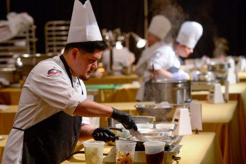 USC chef Jonathan Perez cooks