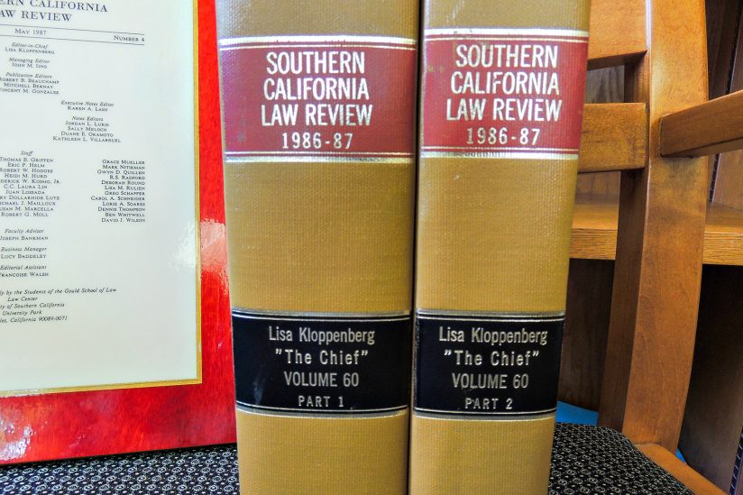 copies of bound Law Review books from 1986