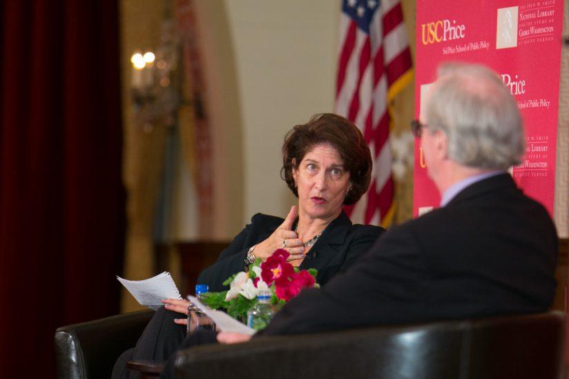 Mara Liasson speaking at Price School