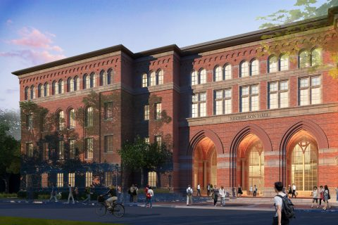Artist rendering of Michelson Hall.