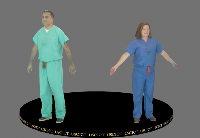 renderings of two virtual doctors
