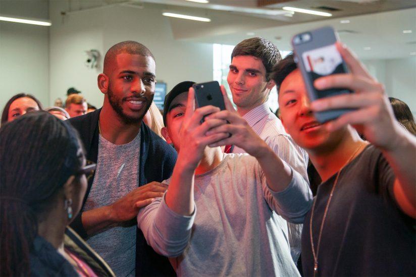 Selfies with Chris Paul