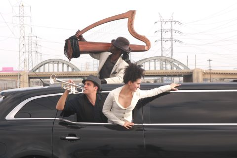 Opera performed in a car
