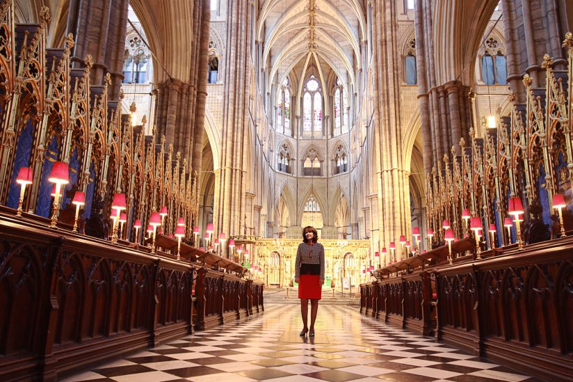 Valerie Humphrey at Westminster Abbey