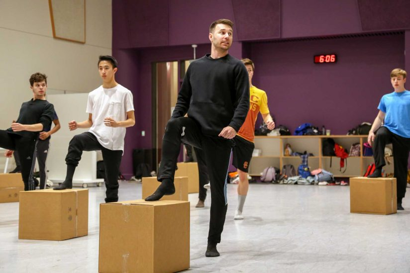 Christopher Scott in studio with dancers