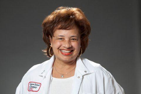 Kim Austin portrait with white coat