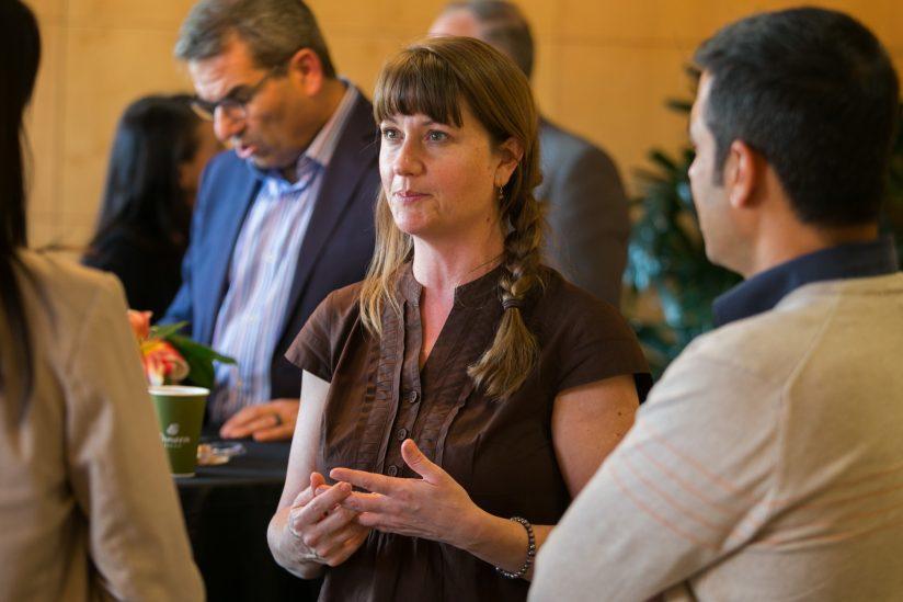 Pamela McCann at book signing