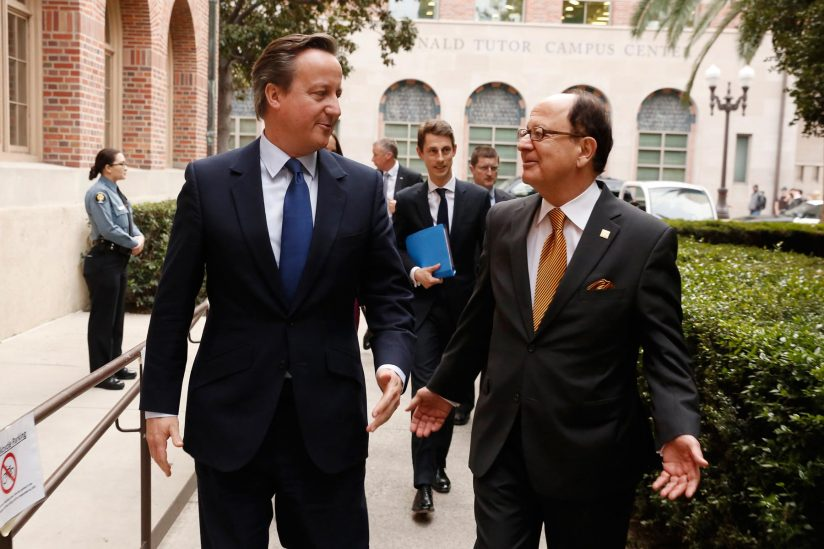 David Cameron and C. L. Max Nikias