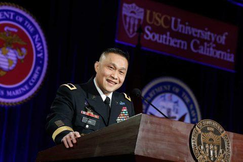 Brig. Gen Viet Luong at podium