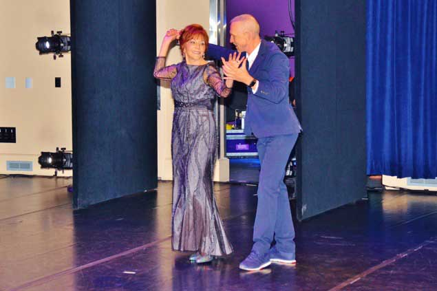 Glorya Kaufman dancing with William Forsythe