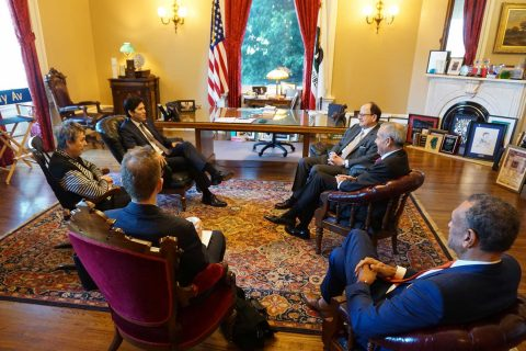 Nikias and trustees in Sacramento talking to lawmakers