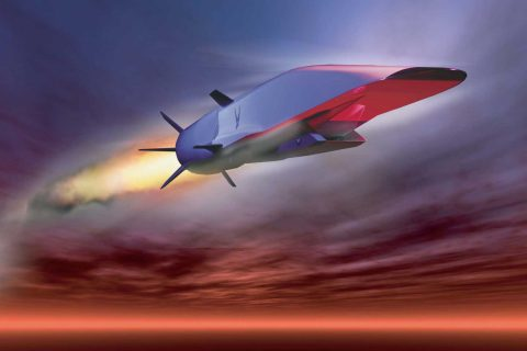 Artist rendering of the X-51 Waverider