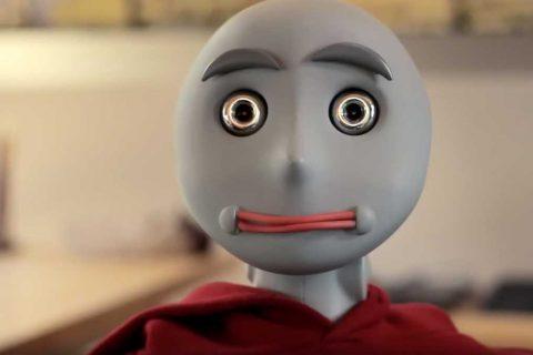 social robot Bandit's face