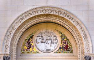 Gilded circular arch