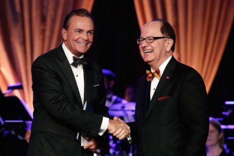 Rick Caruso and USC President C. L. Max Nikias