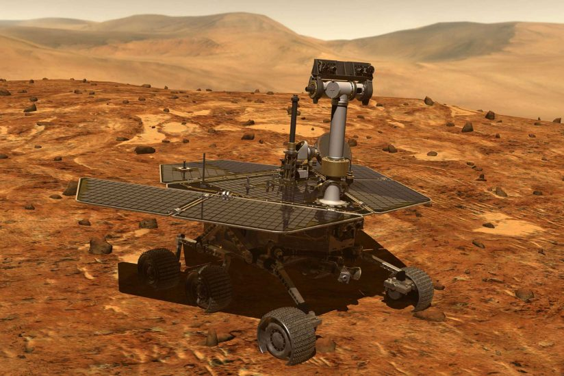 Rendering of Mars Rover