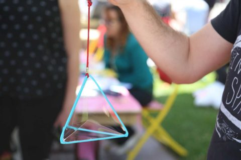 bubble inside a tetrahedron