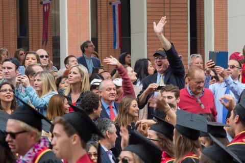 crowds at graduation