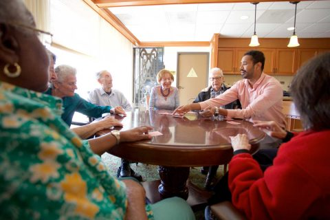 Saw Raj Kappari playing gin rummy with group of older people