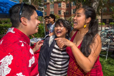 Students socialize at festival on campus