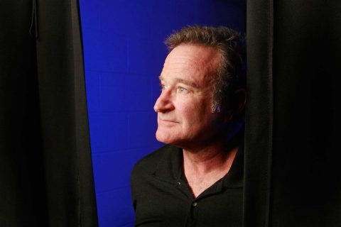 Robin William photographed backstage at a performance