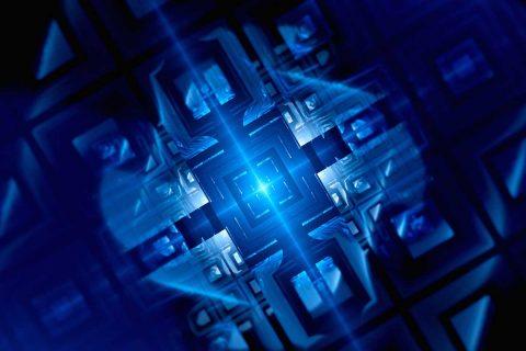 futuristic machines to represent new computing powers