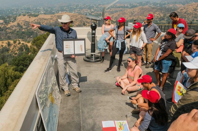Interns at Griffith Park Field Trip