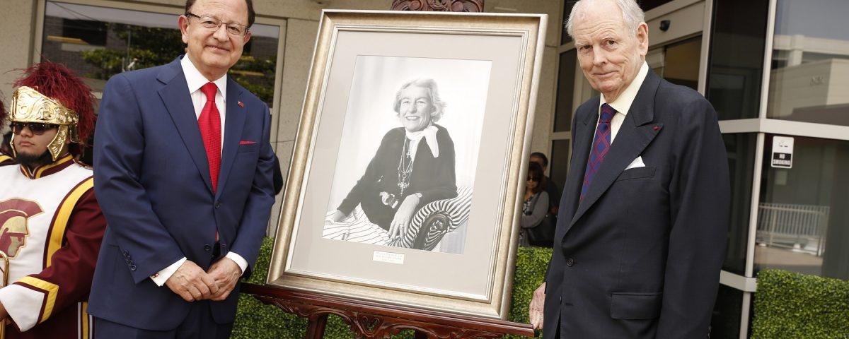 President C. L. Max Nikias and Robert Day