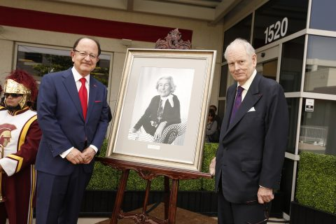 President C. L. Max Nikias and Robert Day