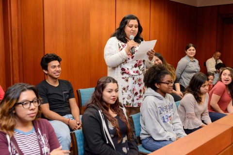 Teen jurors ask questions