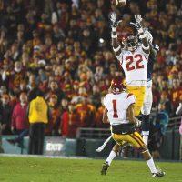 USC Football Leon McQuay interception