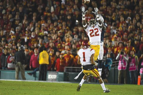USC Football Leon McQuay interception