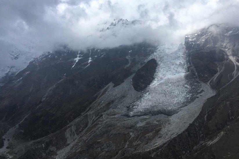 Glaciar on mountain