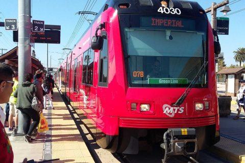 Imperial line metro rail in San Diego
