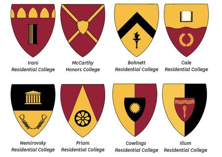 USC Village Crests