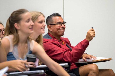 Cesar Jimenez in class