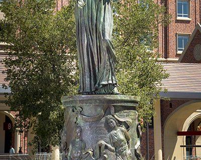 Hecuba USC Village statue
