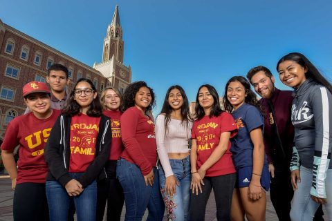 Group photo of the Foshay alumni that started at USC this fall