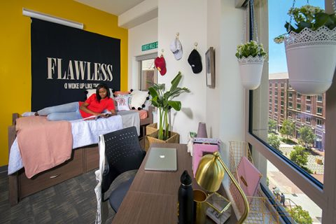 Student room in USC Village