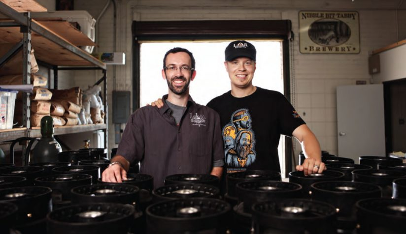 Los Angeles craft brewers John Rockwell and Kristofor Barnes