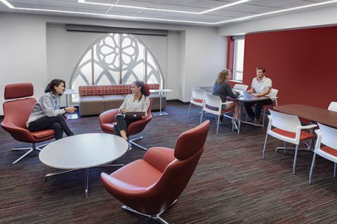 USC Village Red Lounge