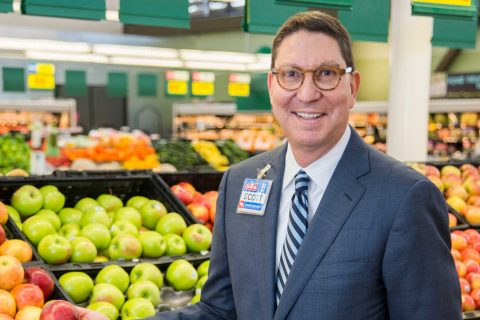 Scott McClelland in an H-E-B store