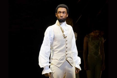 Donald Webber Jr. onstage in Hamilton