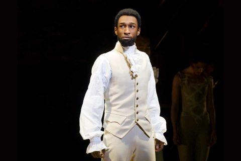 Donald Webber Jr. onstage in Hamilton