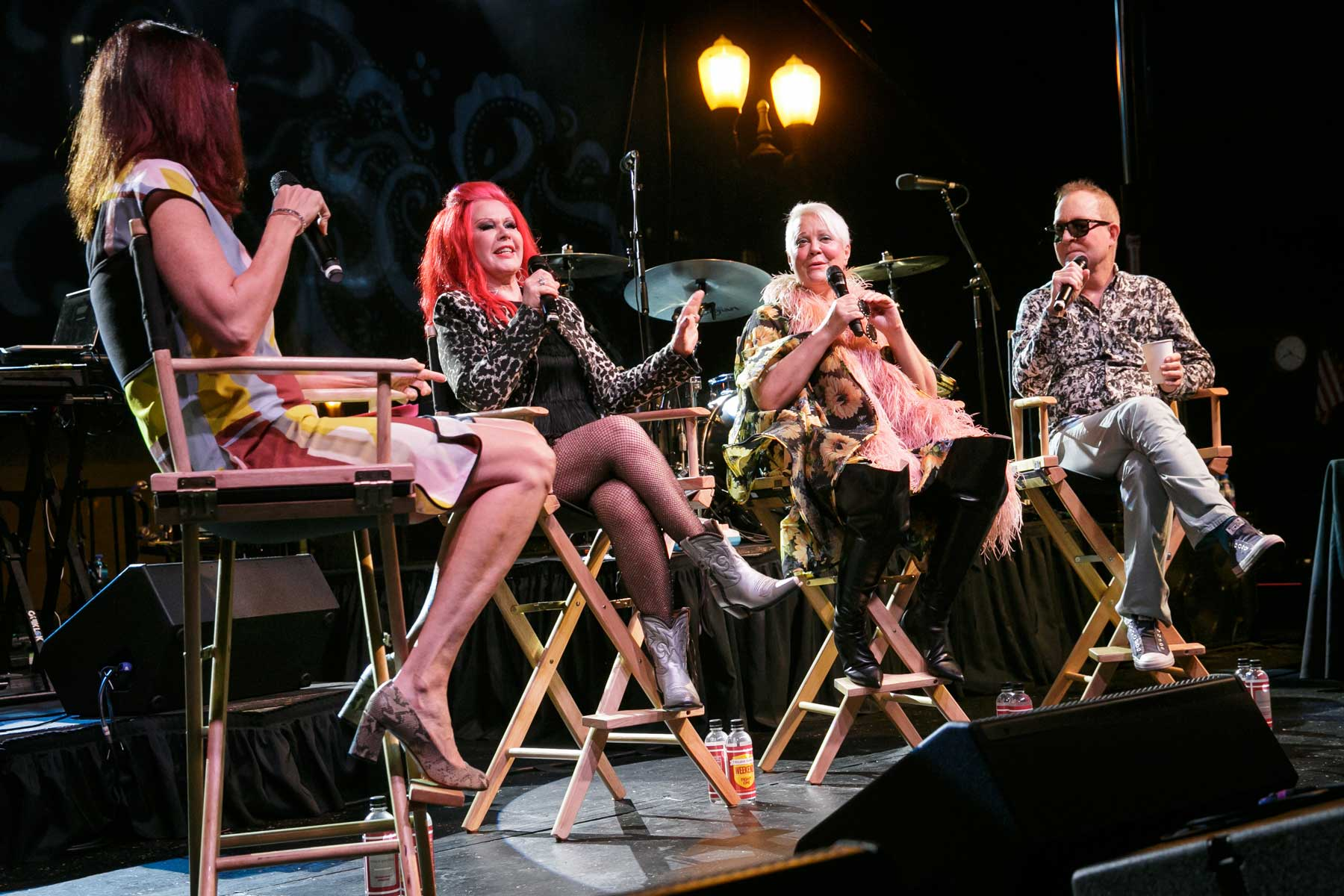 B-52s onstage in conversation before show