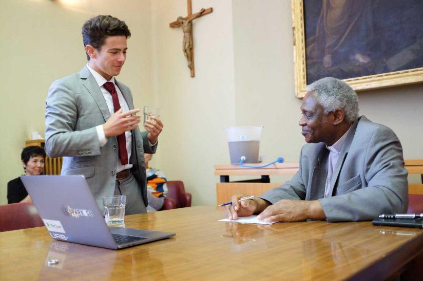 Kevin Kassel talks to Cardinal Peter Turkson
