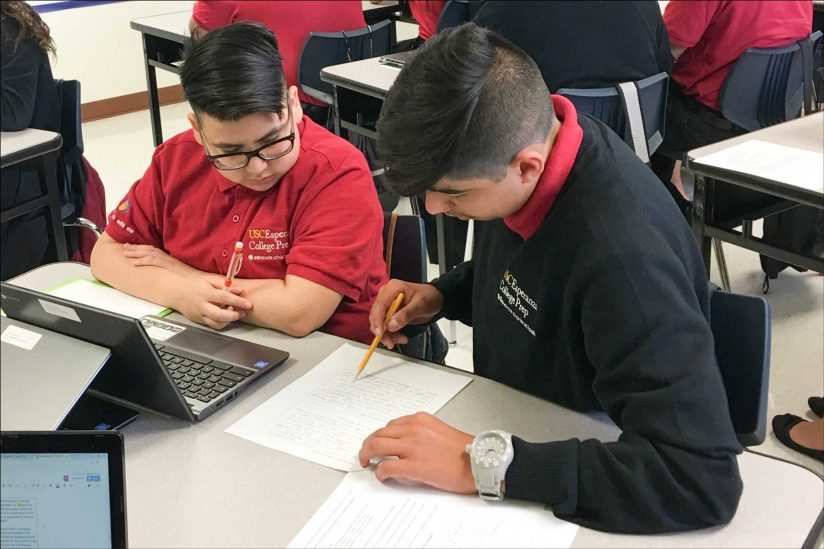 Esperanza college prep students Gavin Arroyo and Jonathan Fuentes