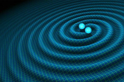 Illustration of gravitational waves